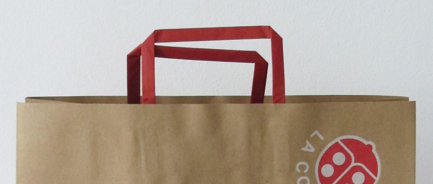 shopper in carta - maniglia in carta - piattina