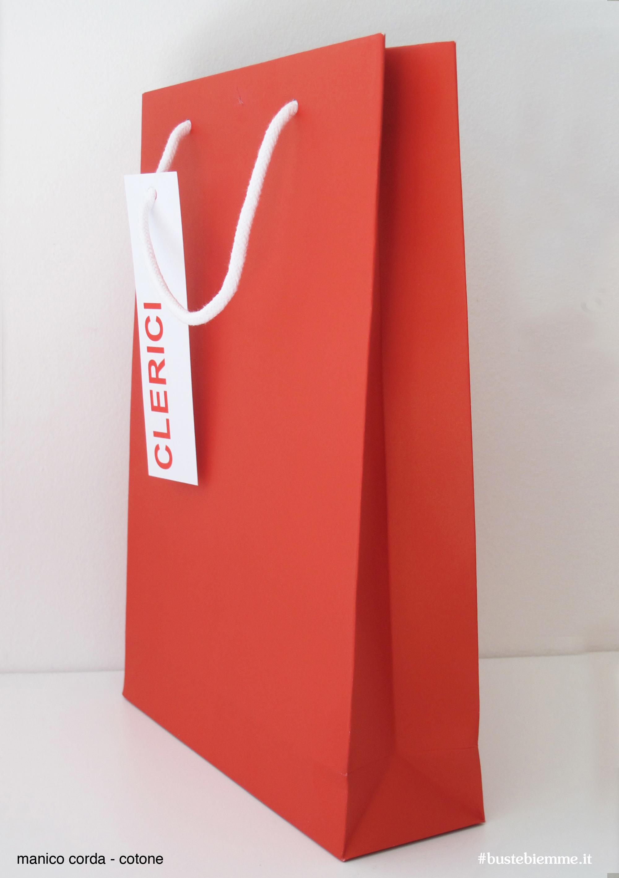 shopper in carta manici in tessuto - cotone