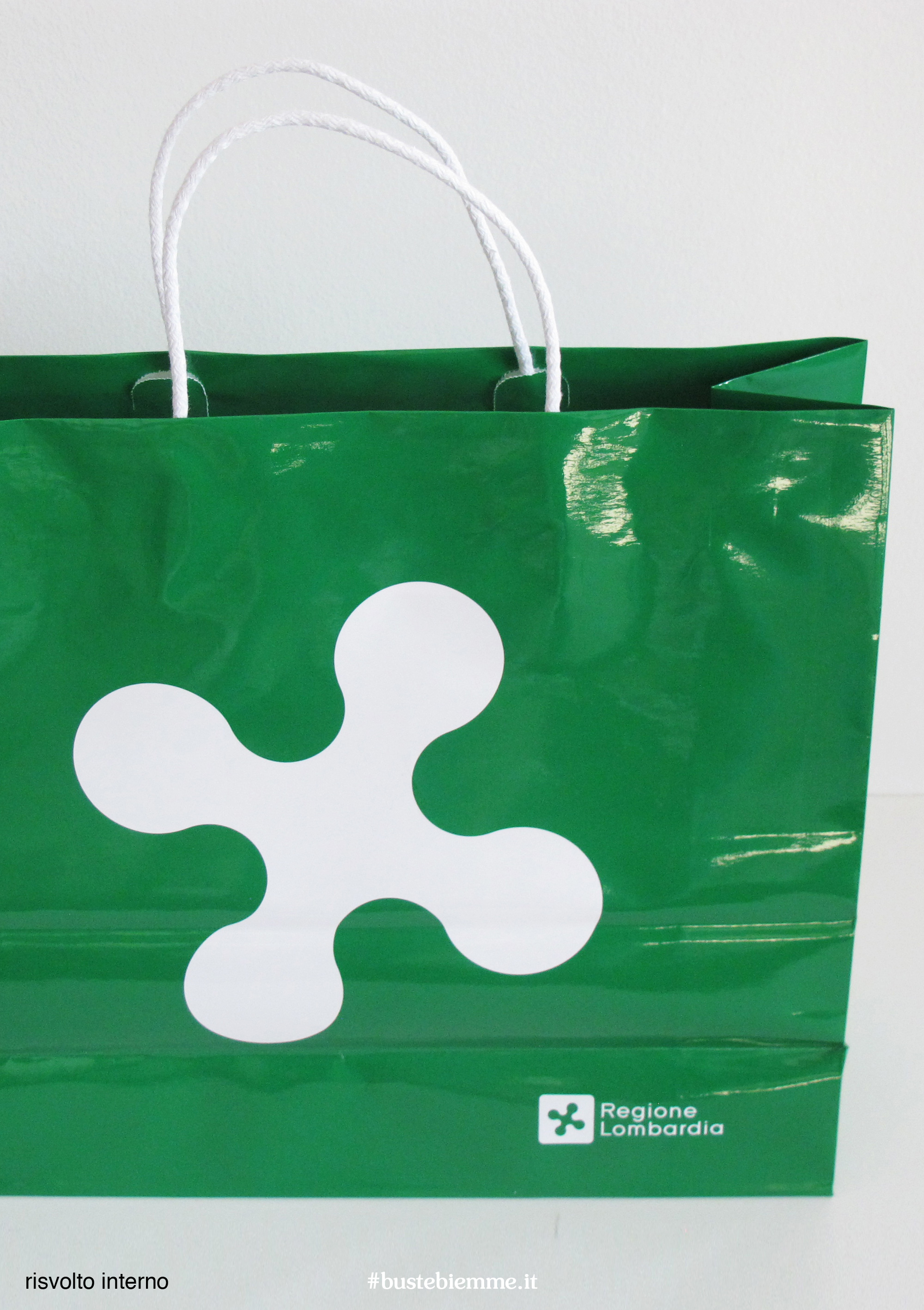 shopper in carta - maniglia in carta - con risvolto superiore