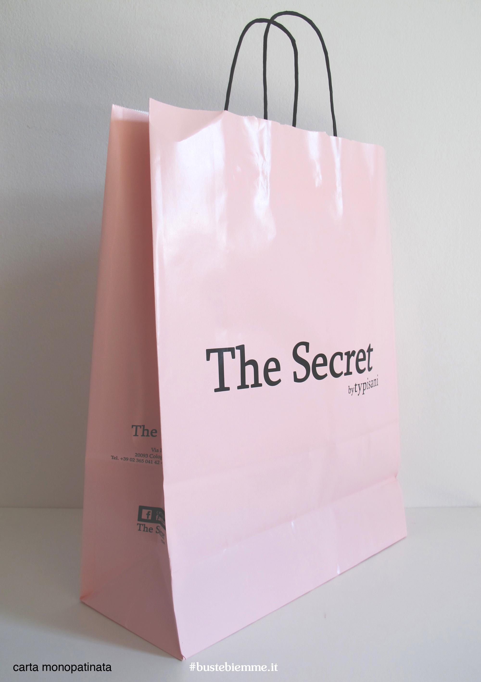 shopper in carta monopatinata - maniglia in carta ritorta
