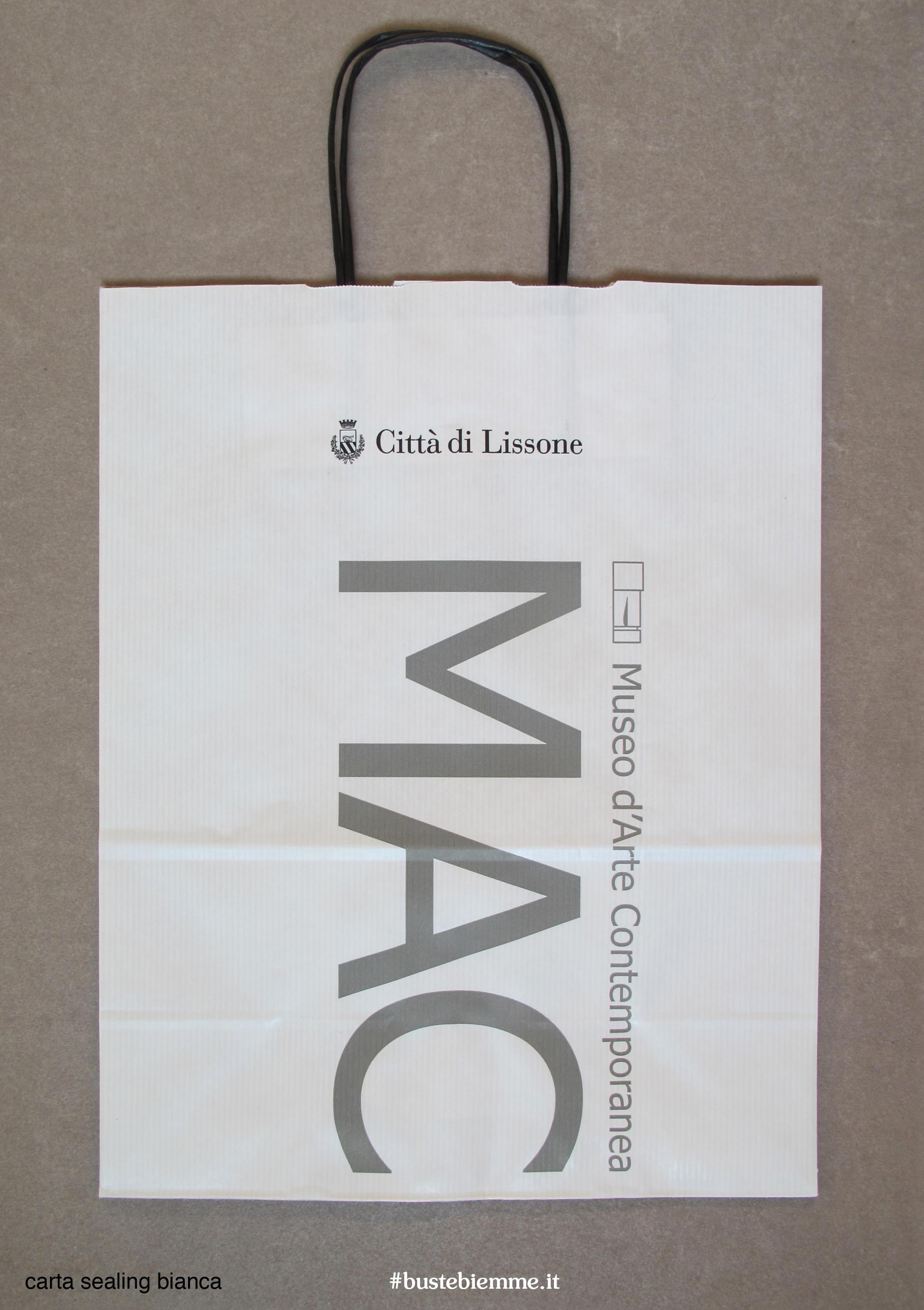 shopper in carta - maniglia in carta - rivestita in cotone