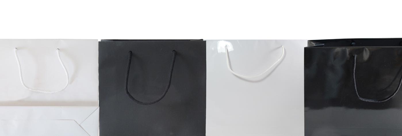 shopper in carta manici in tessuto -cotone - pronta consegna-