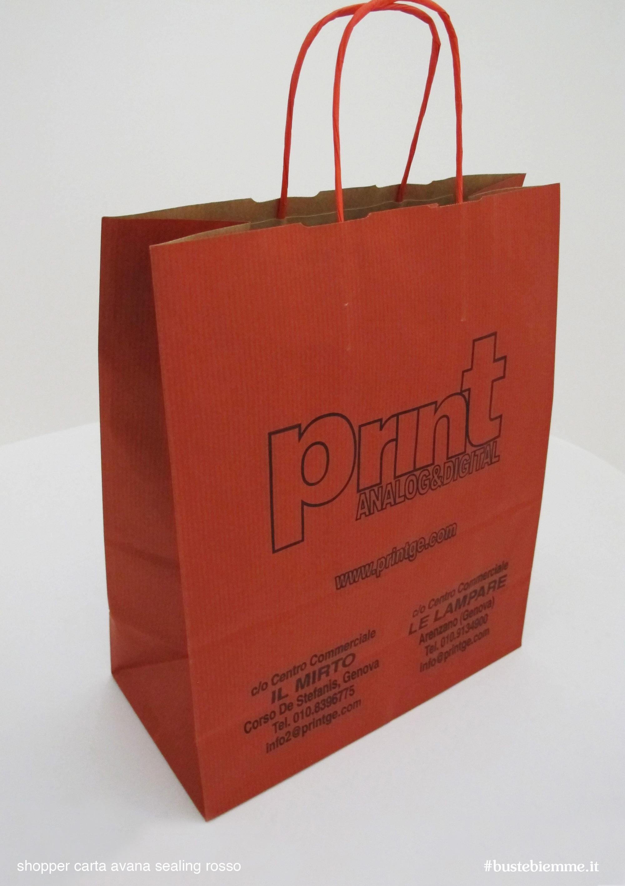 shopper in carta pronta consegna sovrastampati