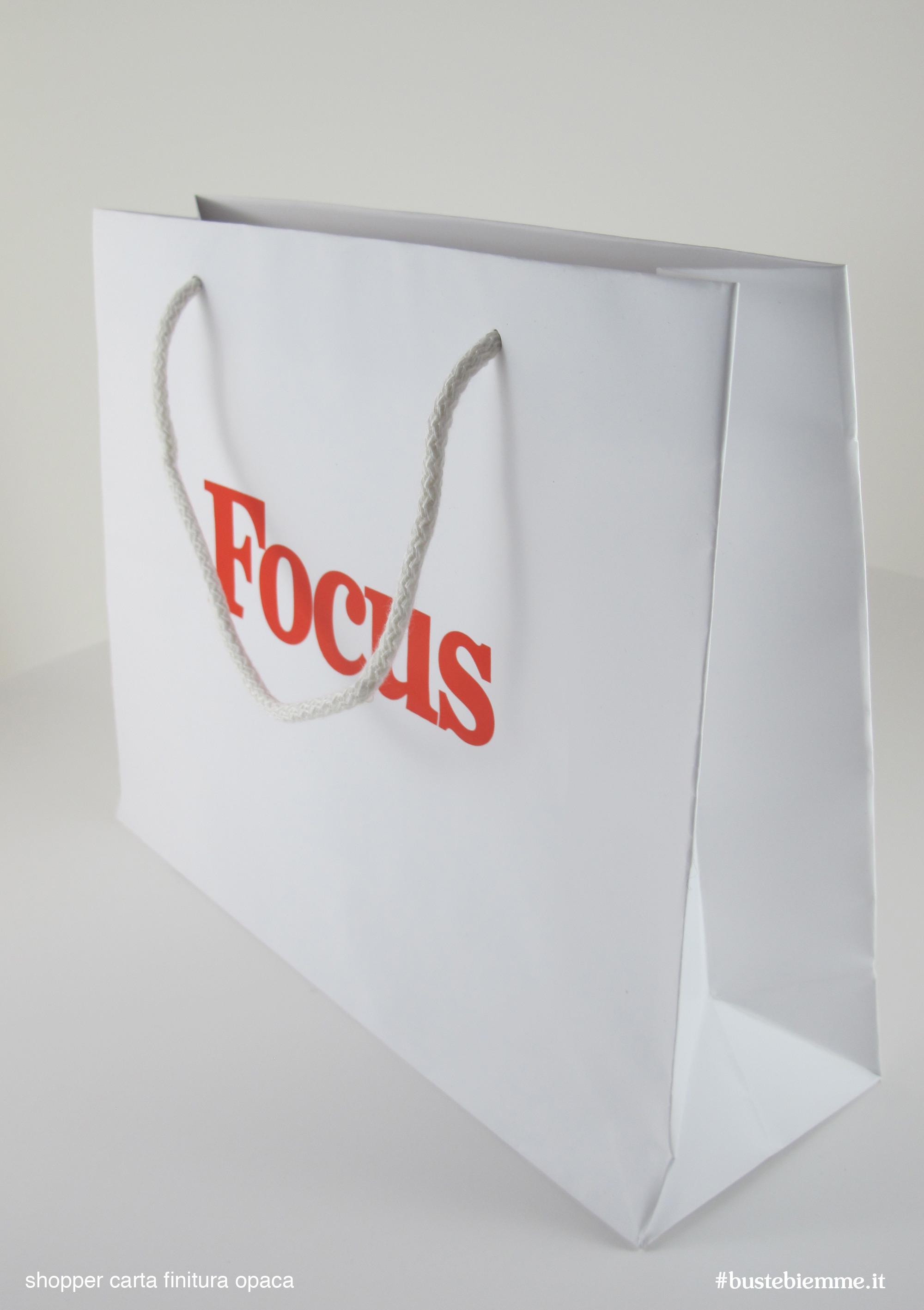 shopper in carta manici in cotone pronta consegna sovrastampati