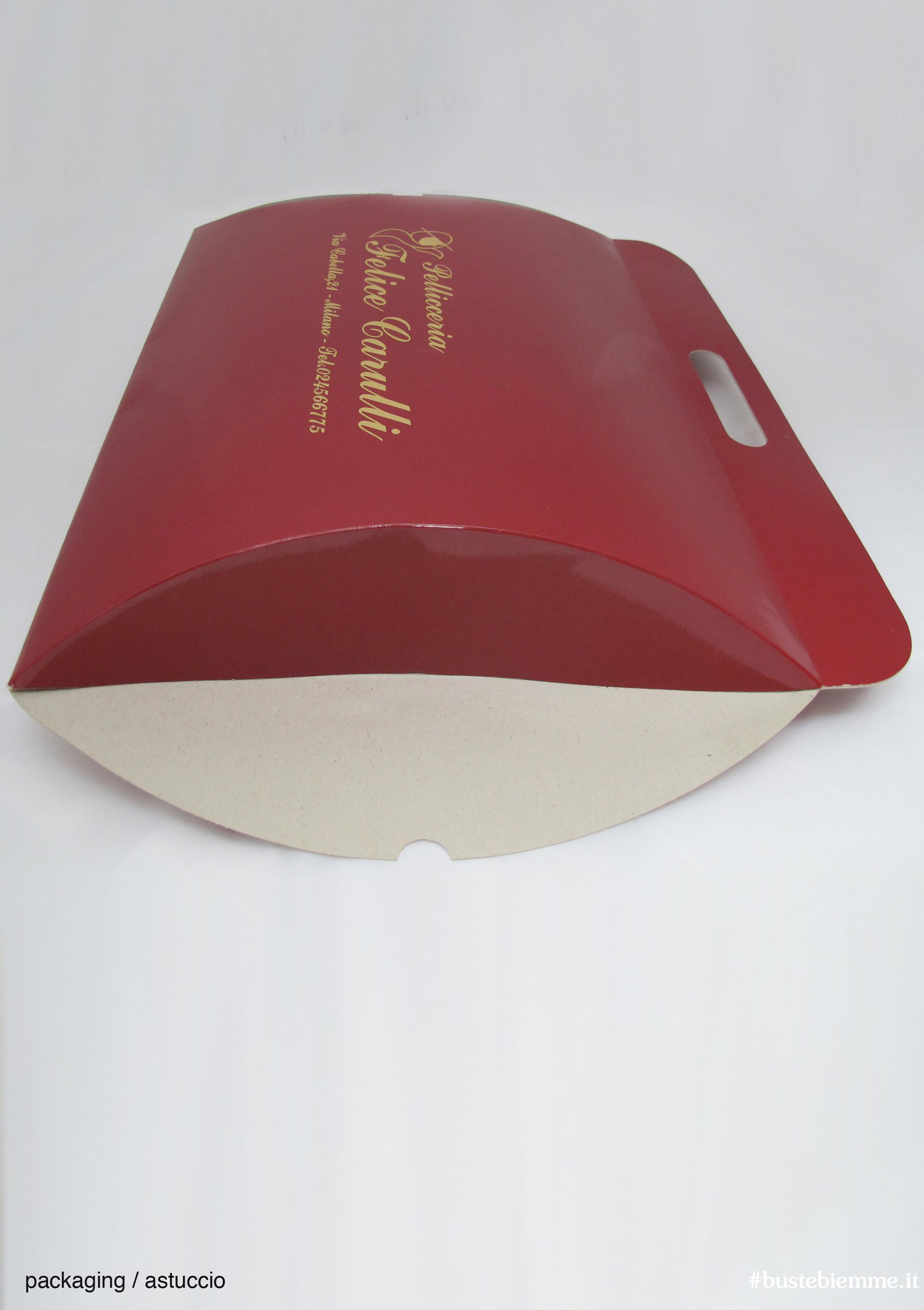 astuccio ovale carta colorata stampa oro a caldo