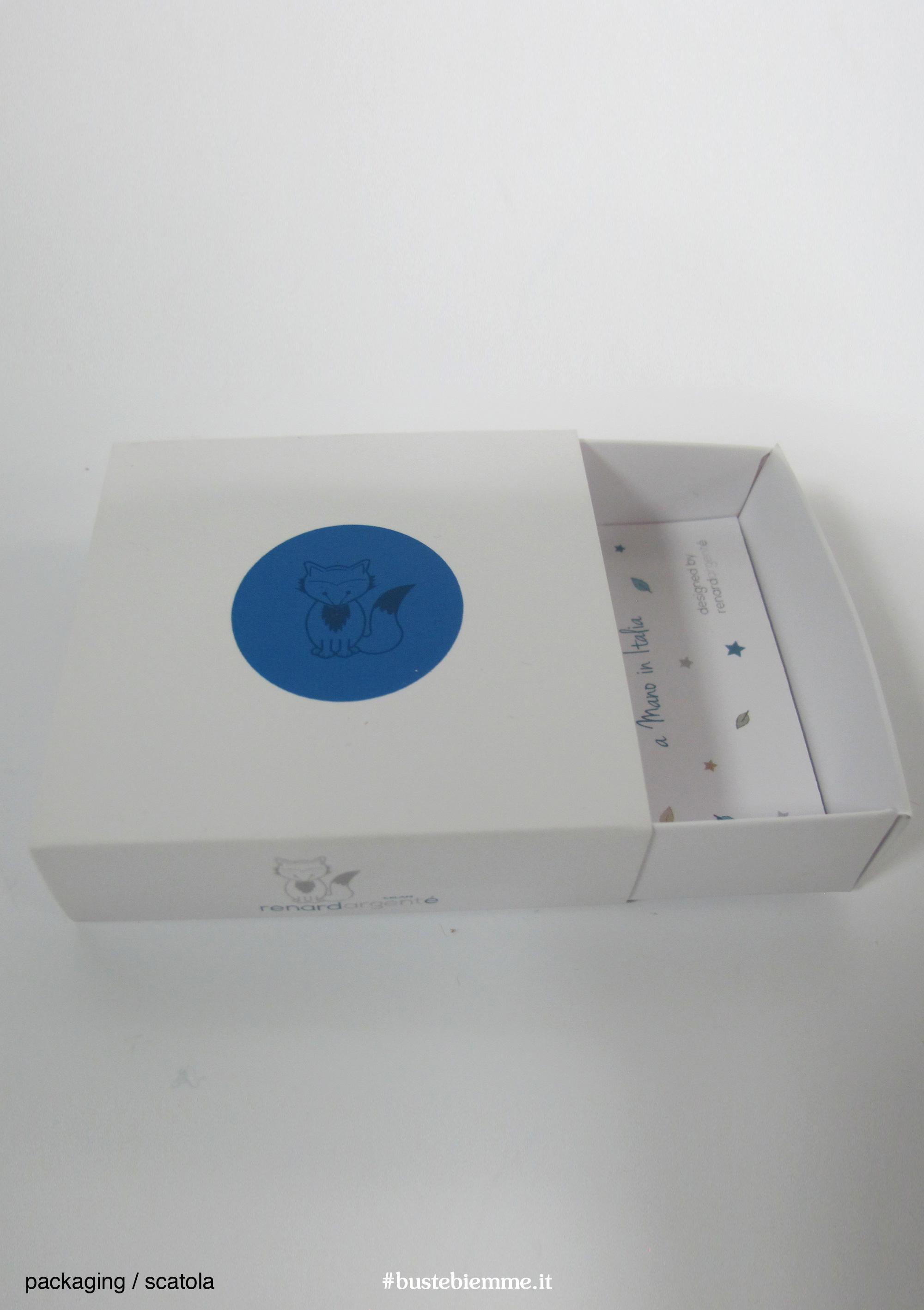 scatola automontante personalizzata con apertura a fiammifero