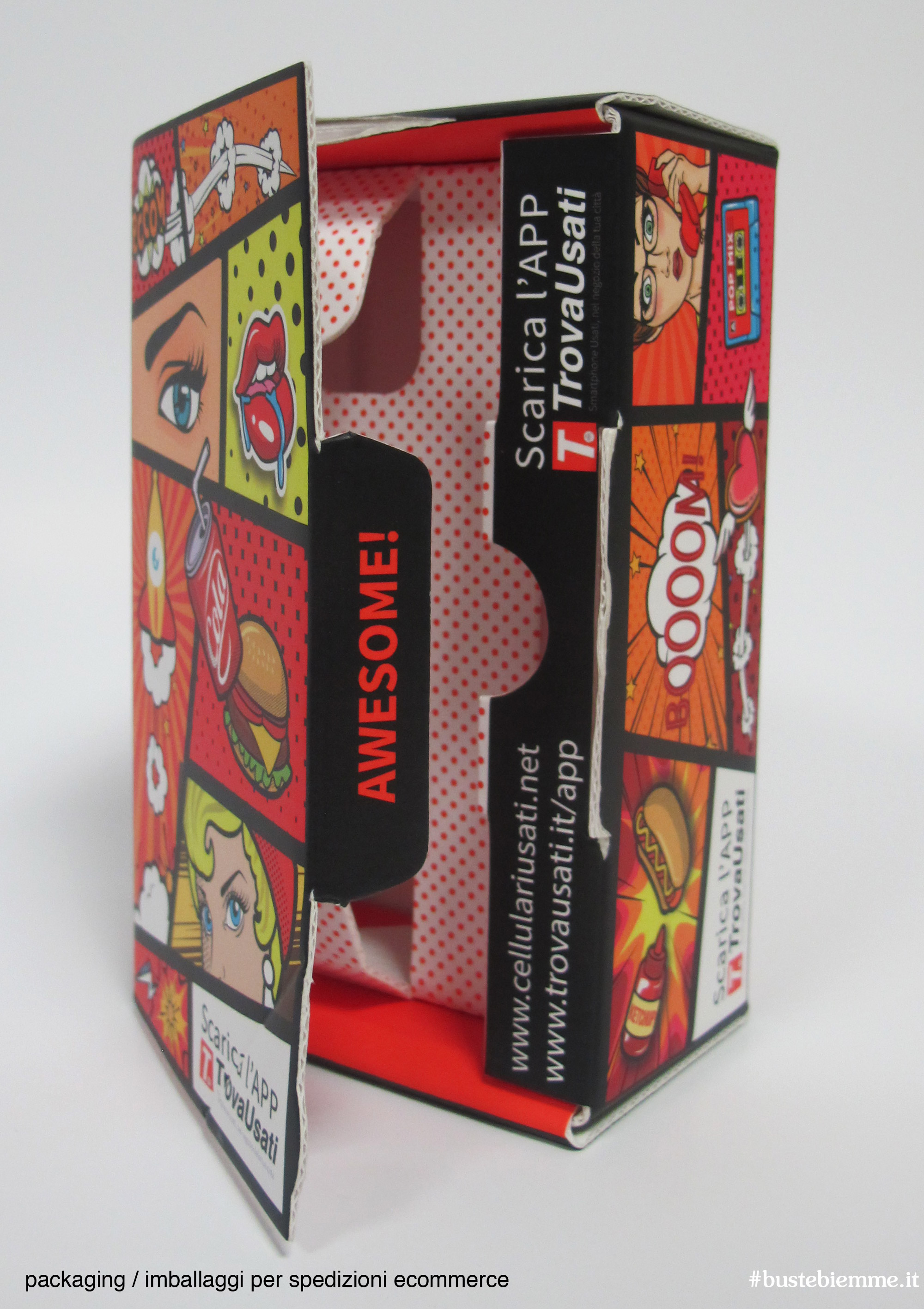 imballaggi per spedire smartphone - scatole con diritto di reso