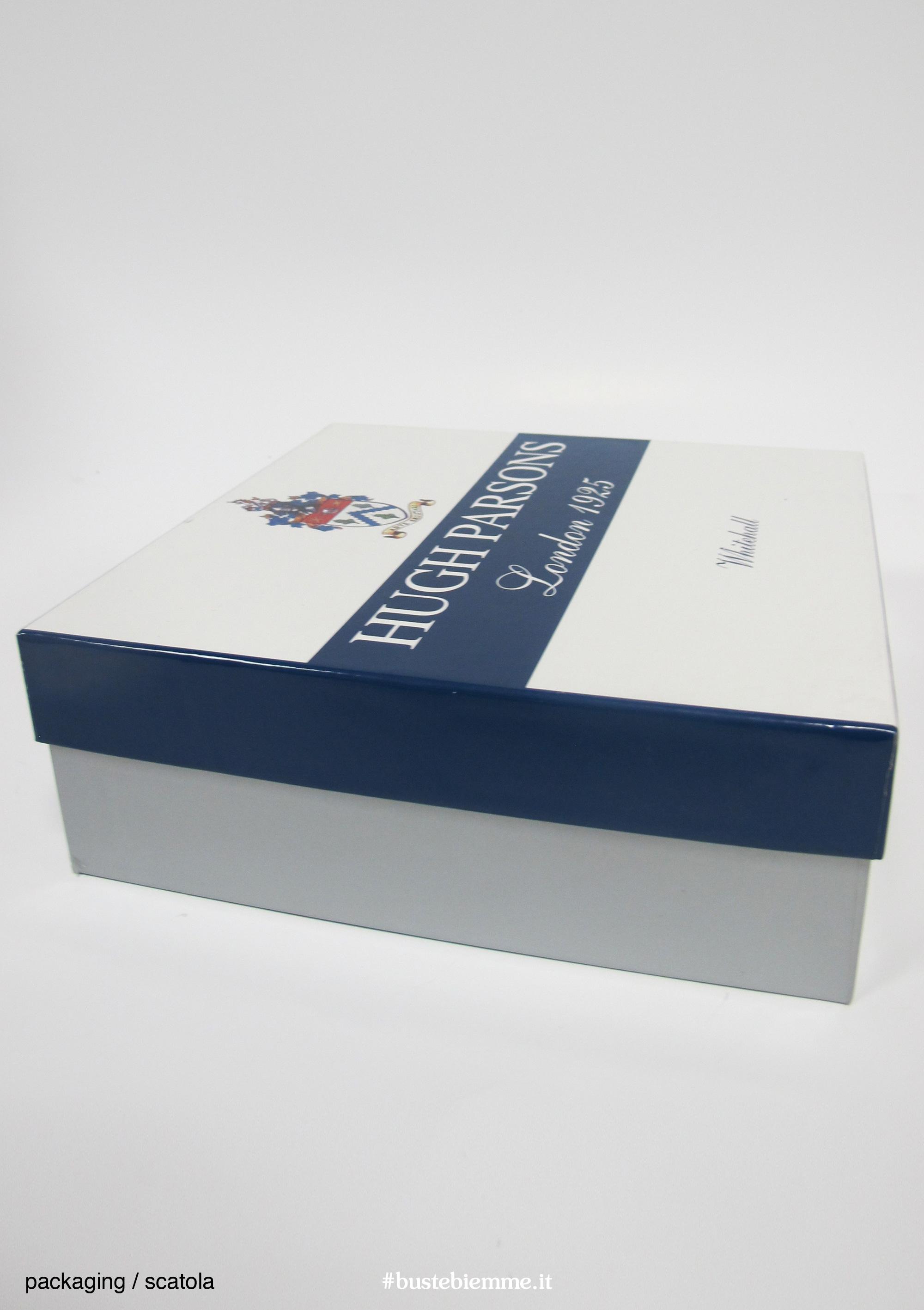 scatola rigida rivestita con coperchio