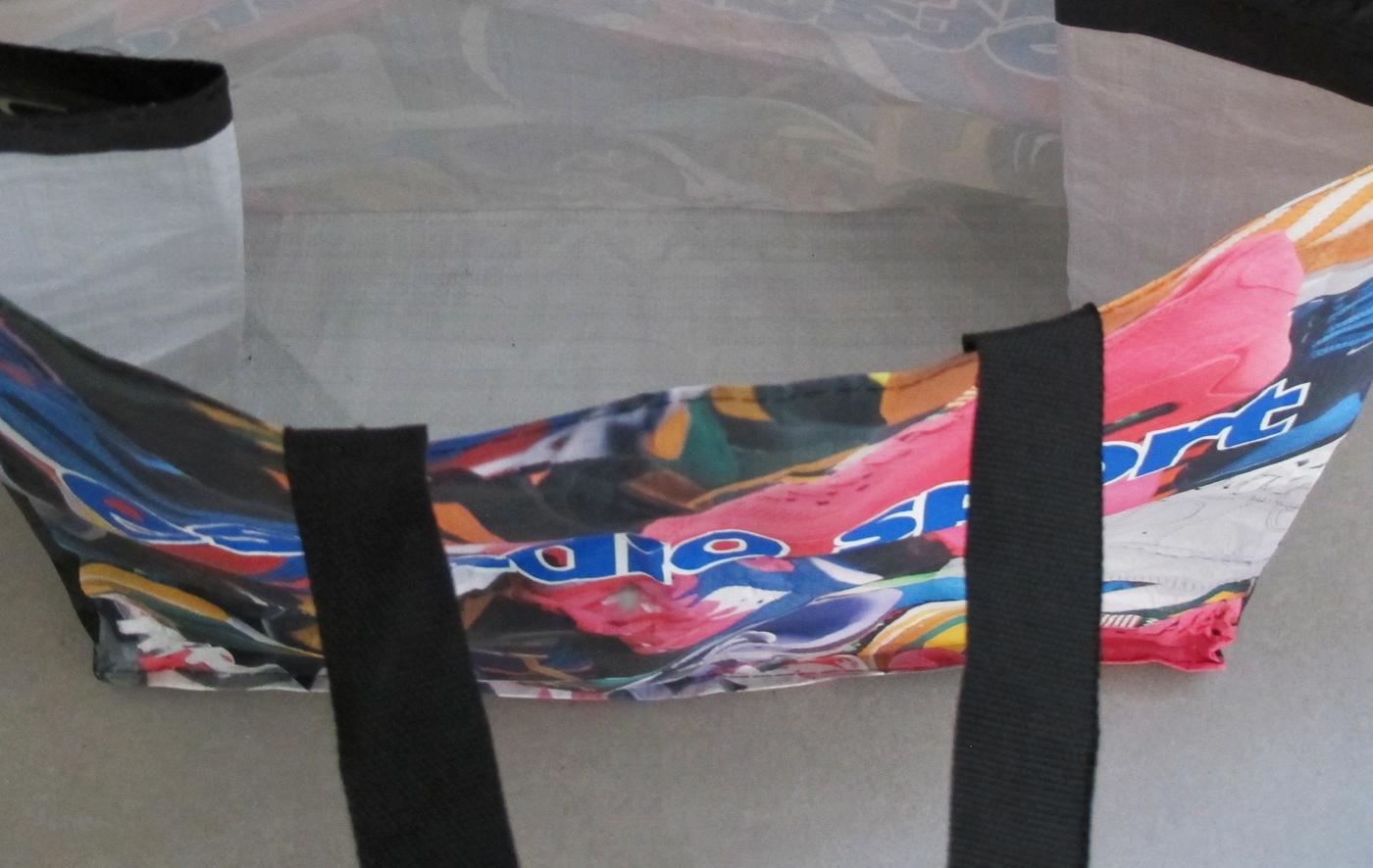 borsa per la Spesa riutilizzabile in PP con manici a fettuccia