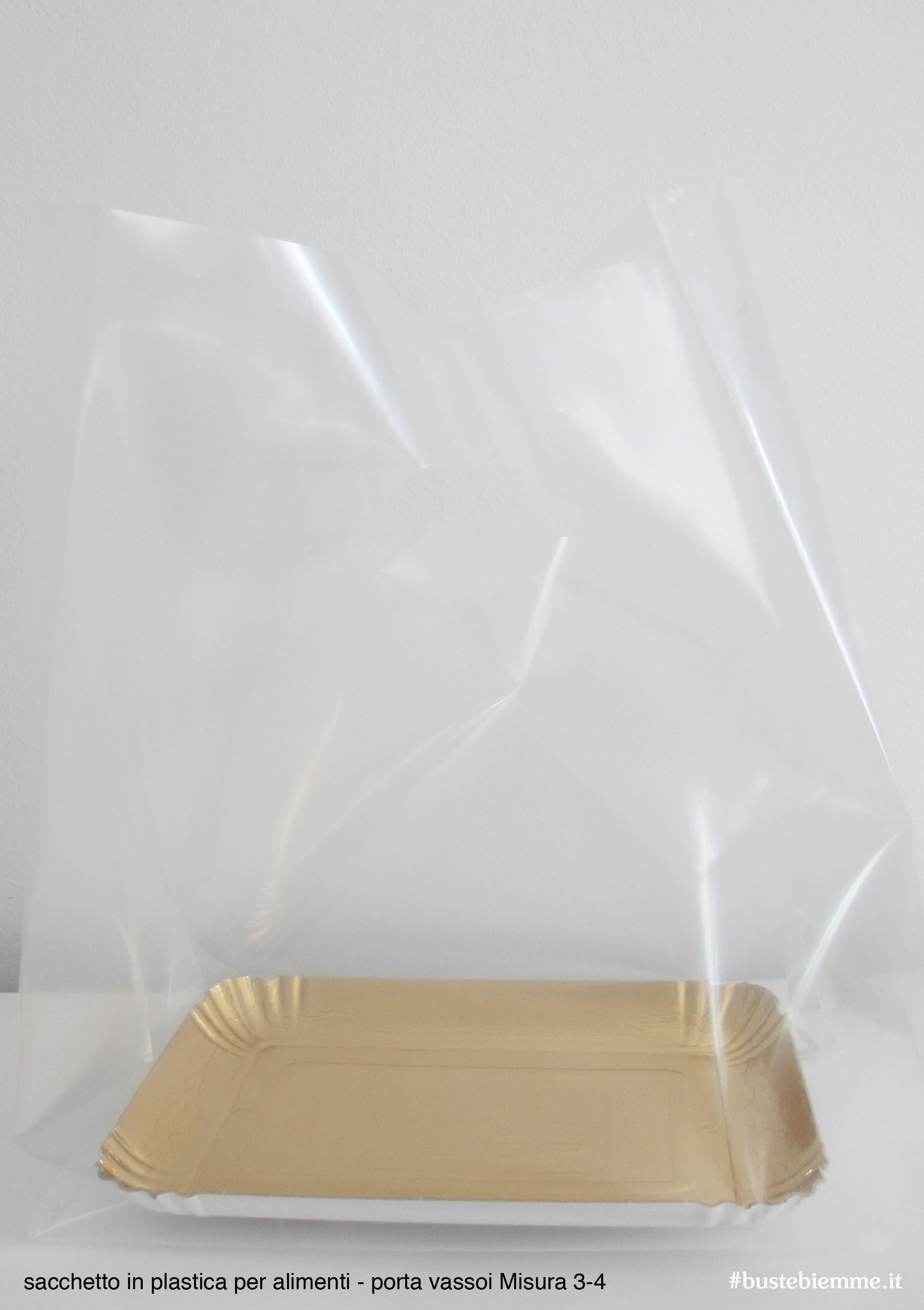 sacchetto in plastica per mistura vassoio 3-4