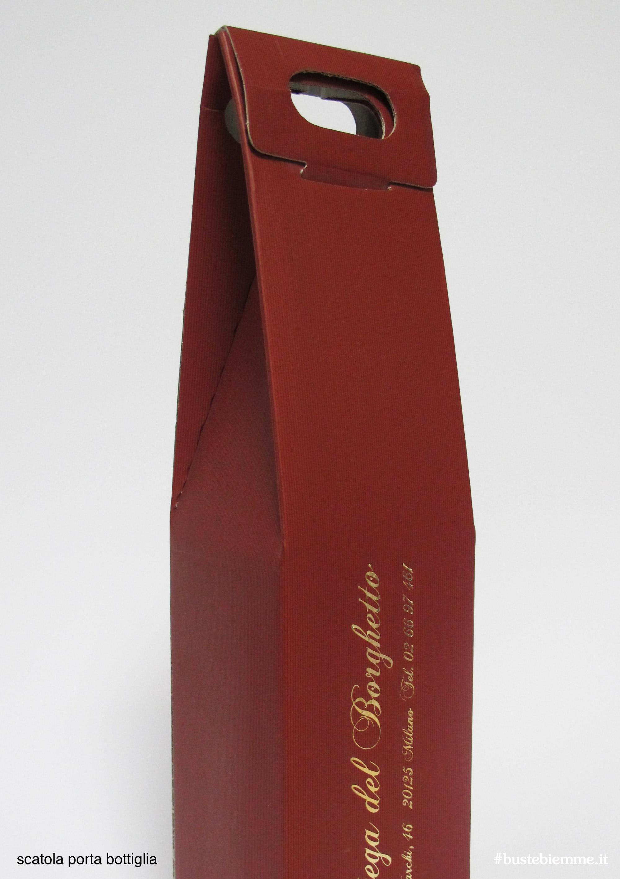 scatola porta bottiglie microonda accoppiata con maniglia