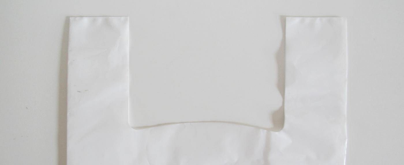 sacchetto in plastica maniglia canottiera