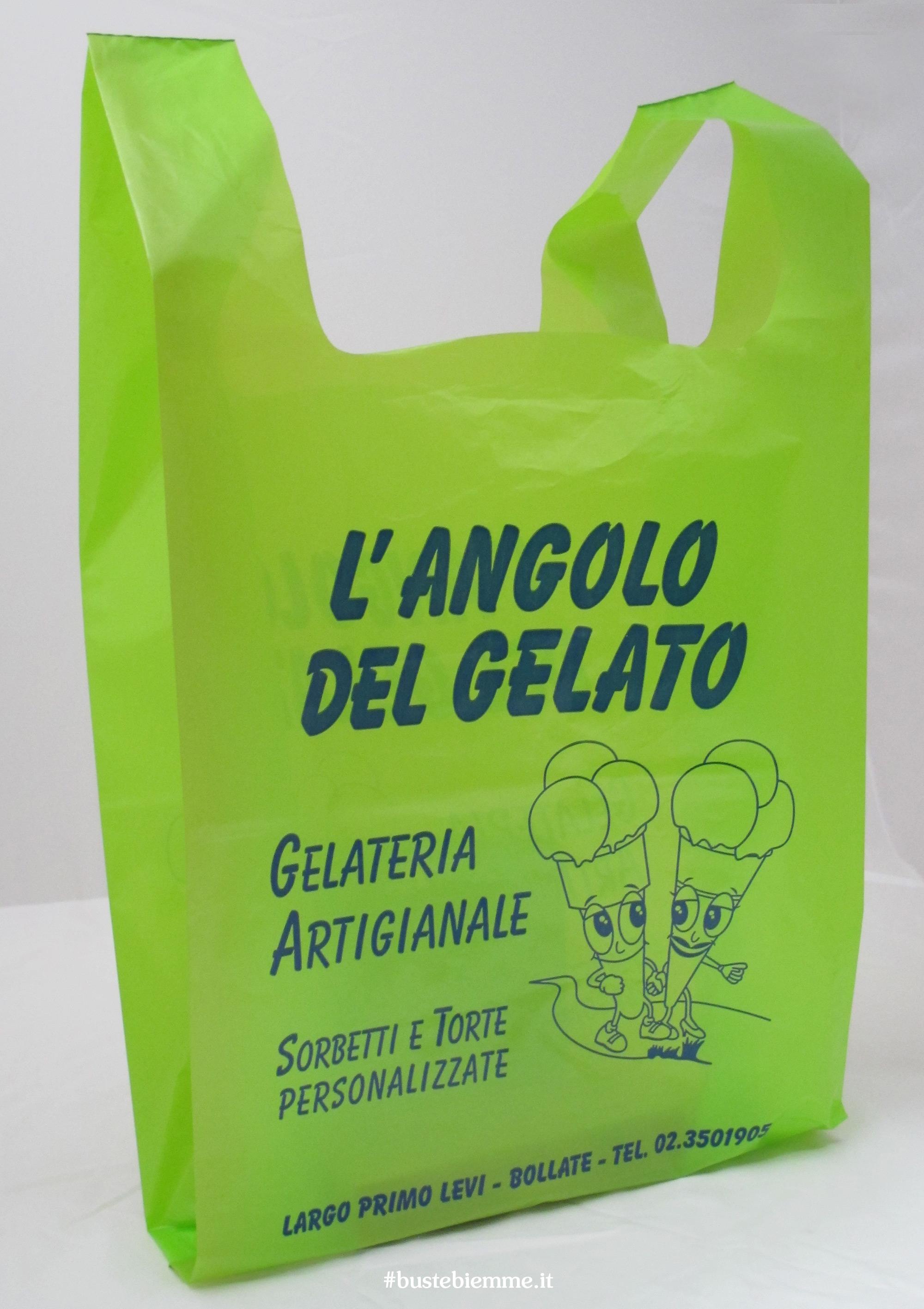 sacchetto in plastica personalizzato con maniglia canottiera