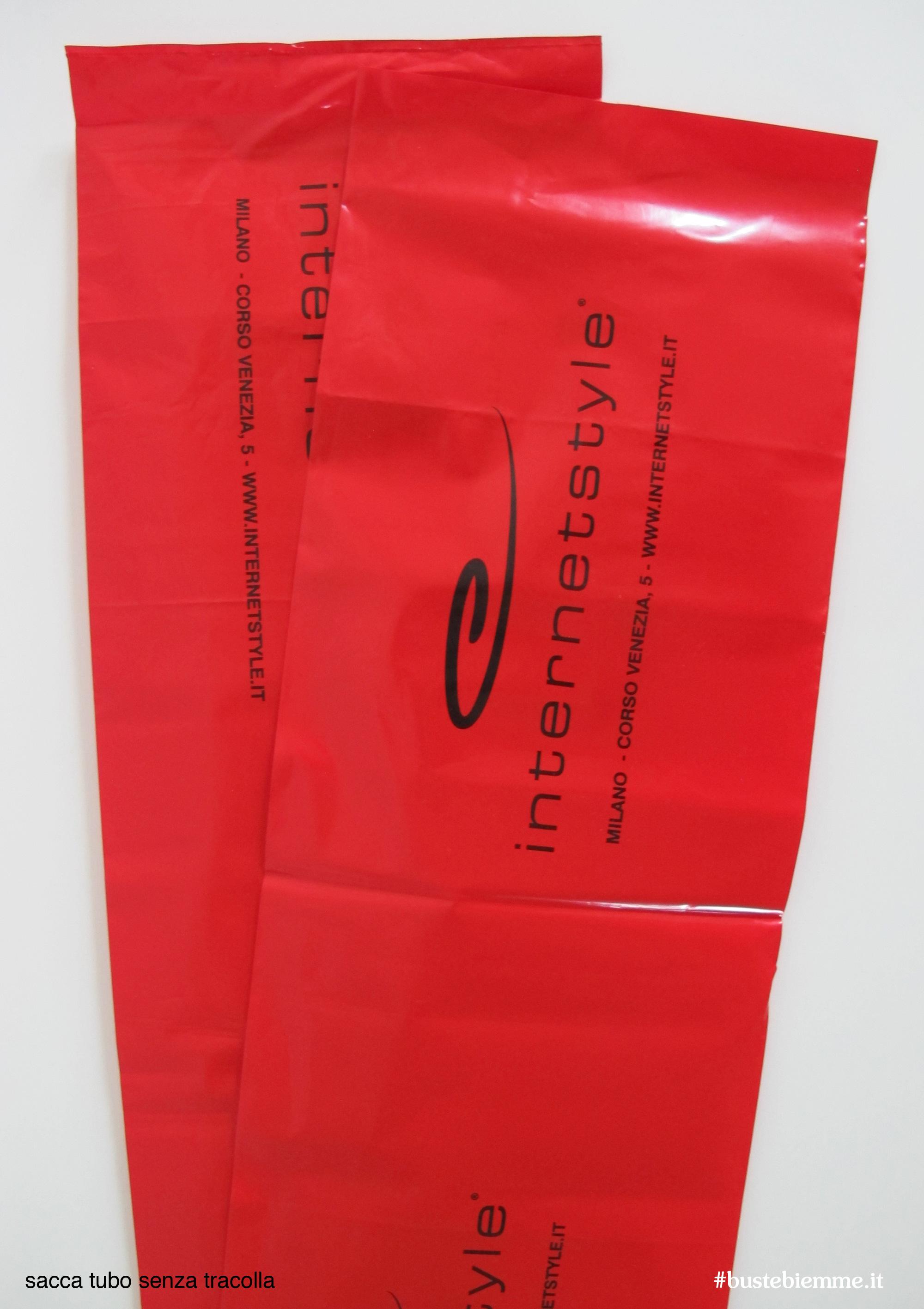 sacchetto in plastica colorato senza maniglia