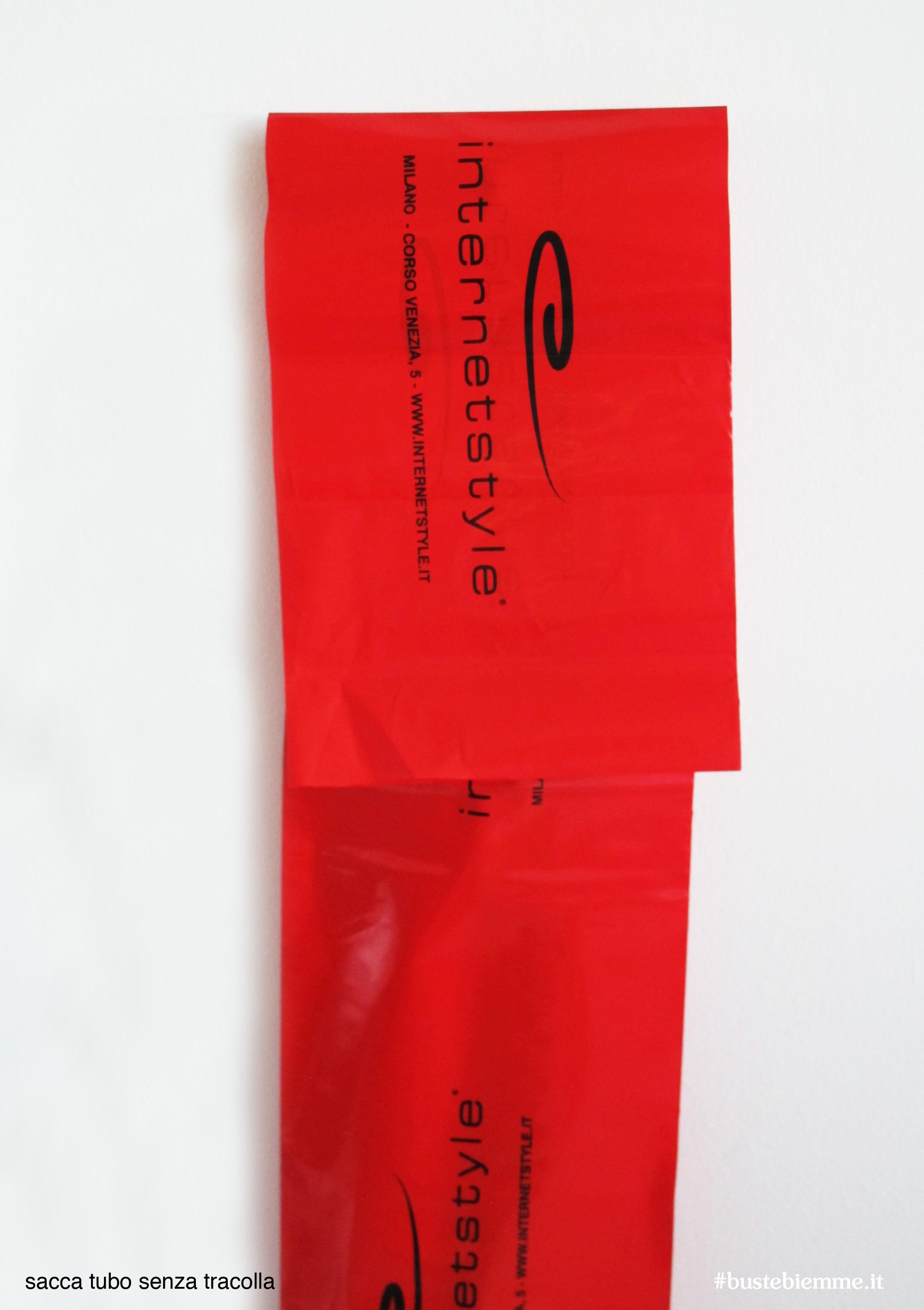 sacca tubo in plastica personalizzata
