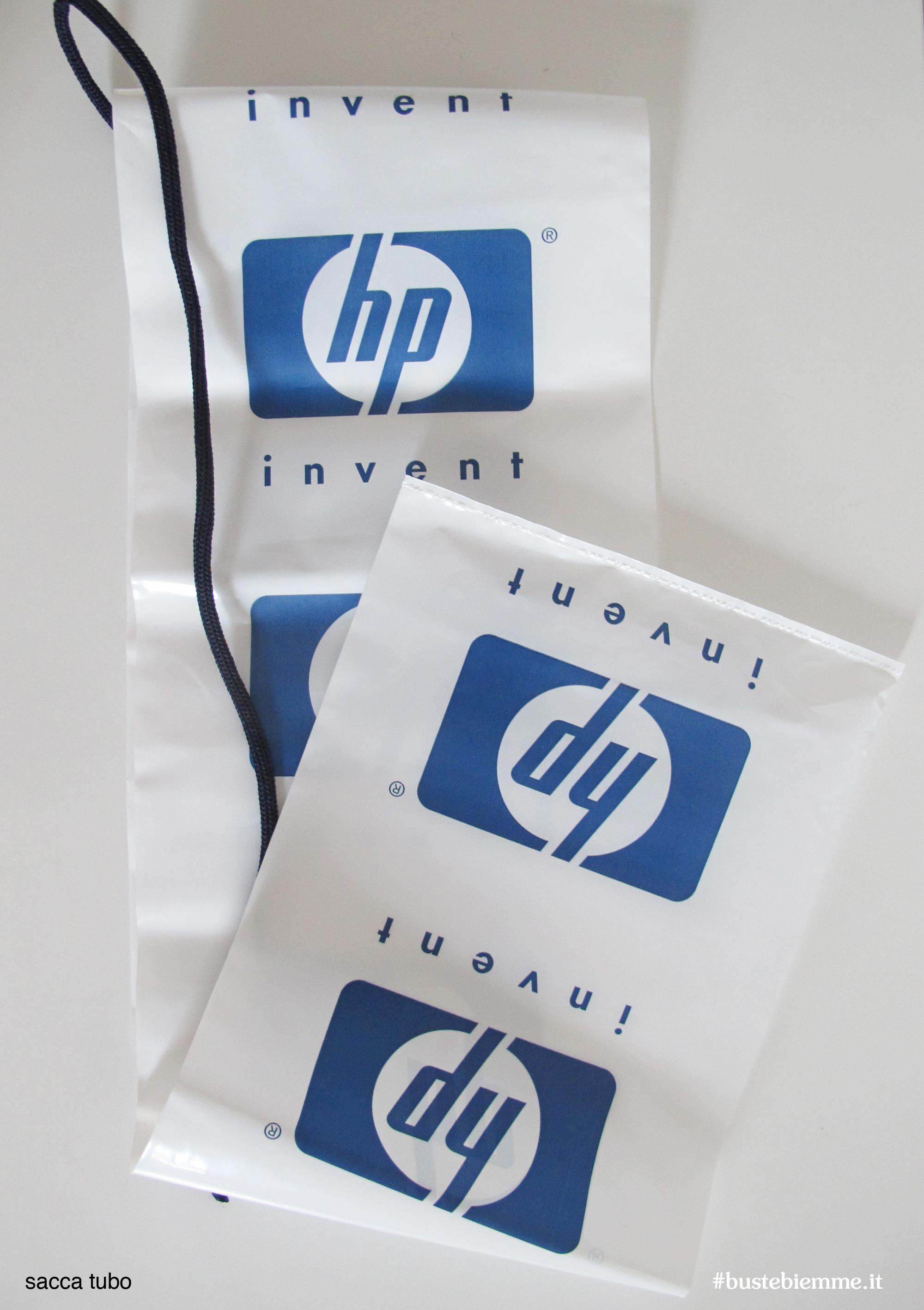 sacca tubo in plastica personalizzata con tracolla in cotone