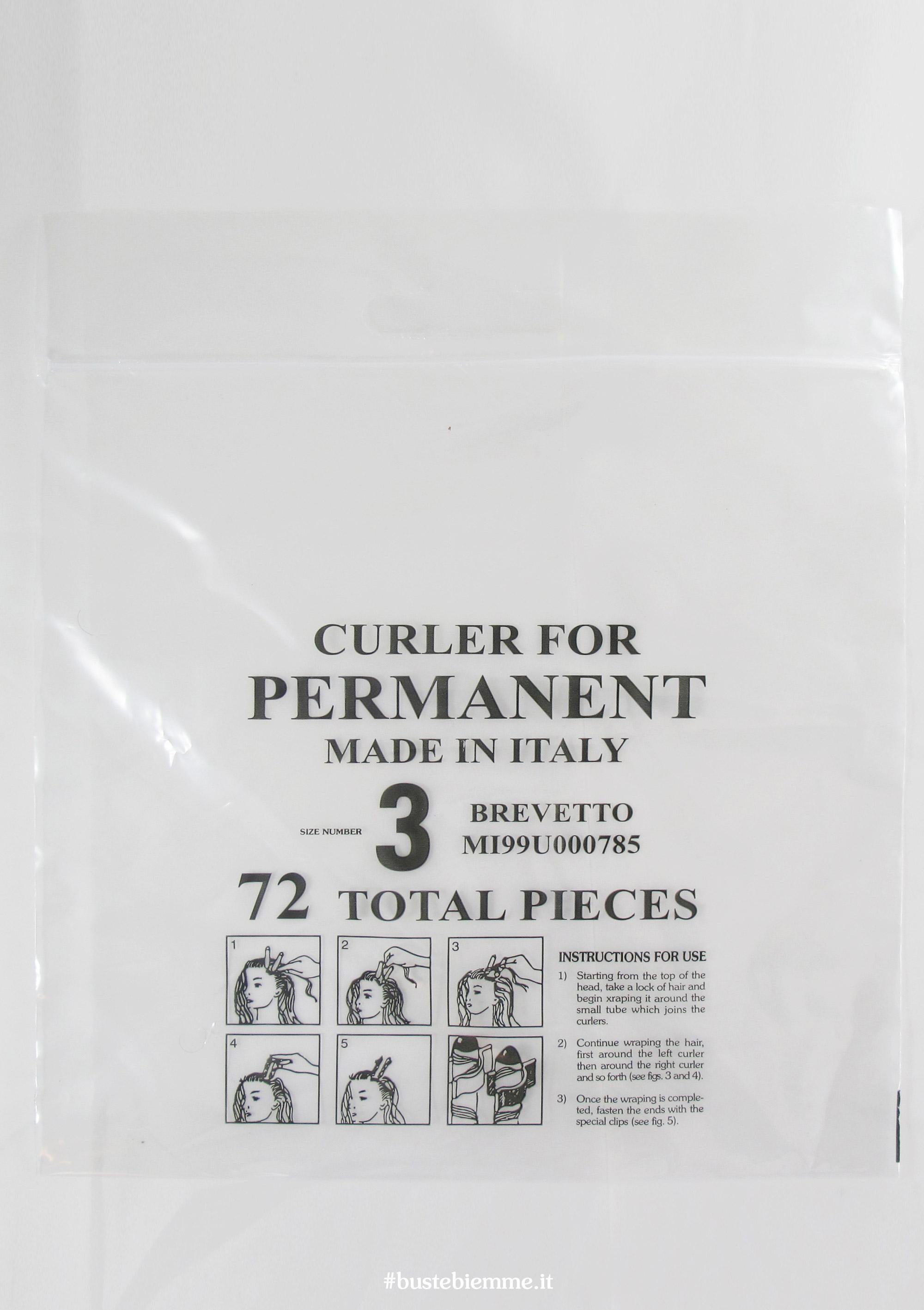 sacchetto in plastica trasparente senza maniglia chiusura a pressione