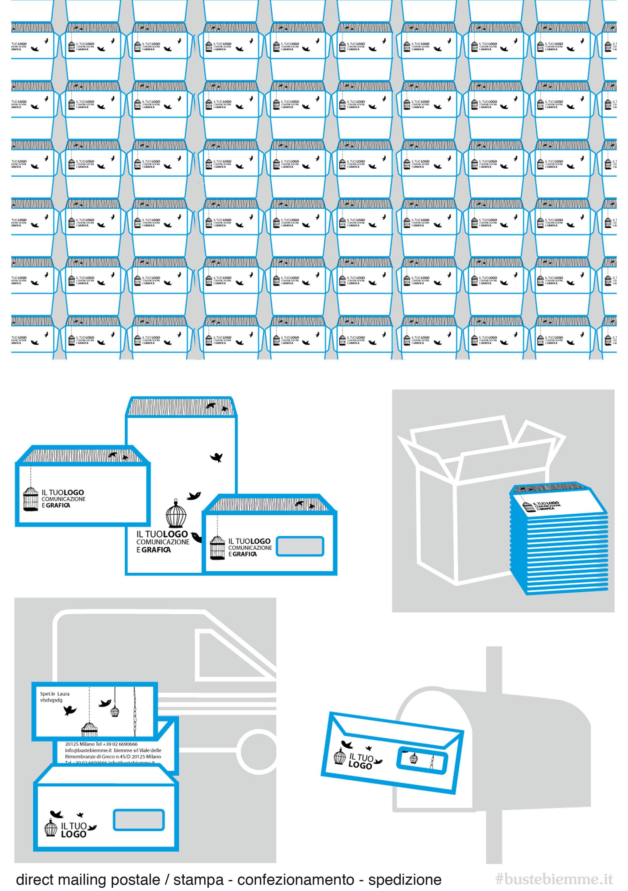 direct mailing postale Stampa, Imbustamento e Postalizzazione