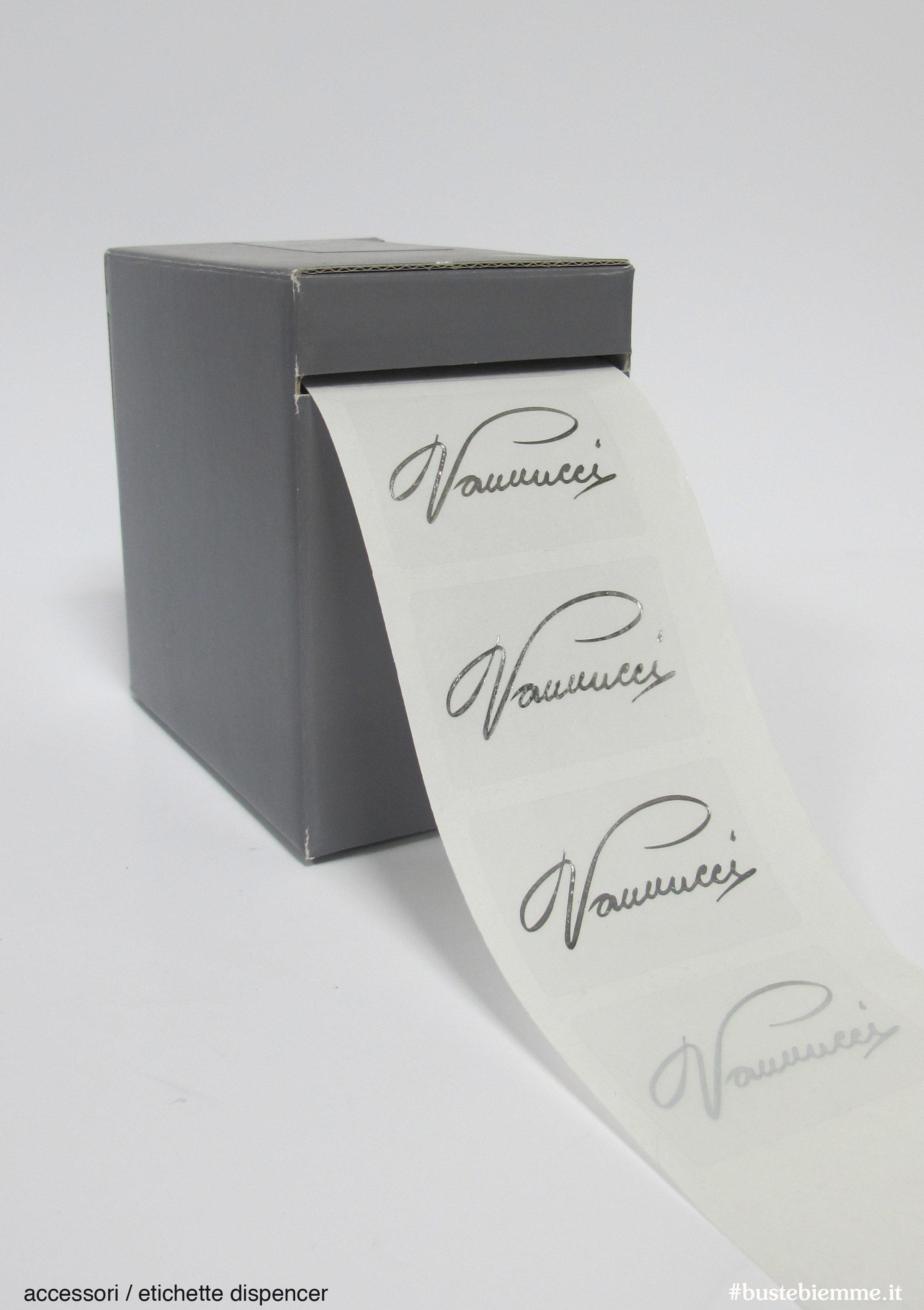 etichetta trasparente personalizzata argento a caldo
