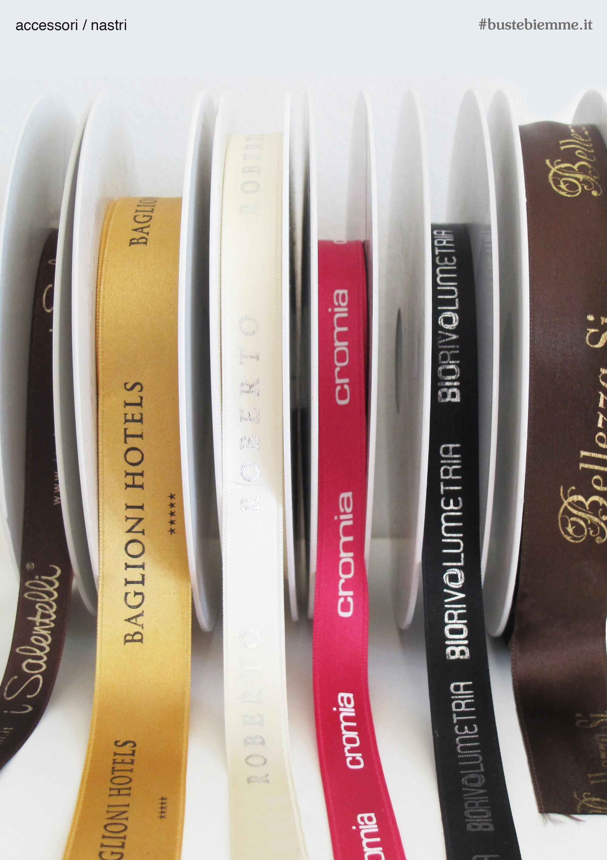 nastri personalizzati con stampa in serigrafia
