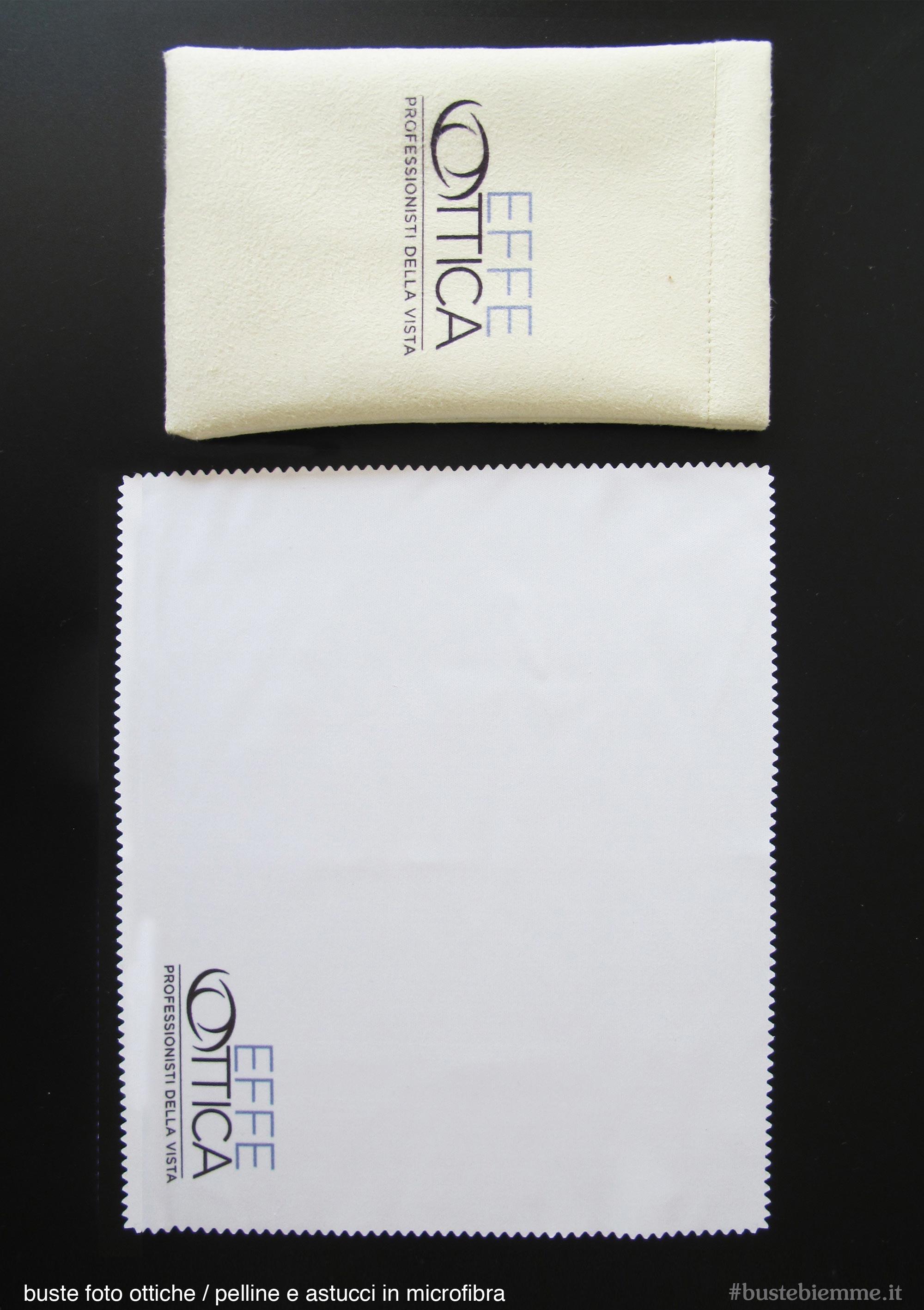 pelline e astucci in microfibra personalizzati