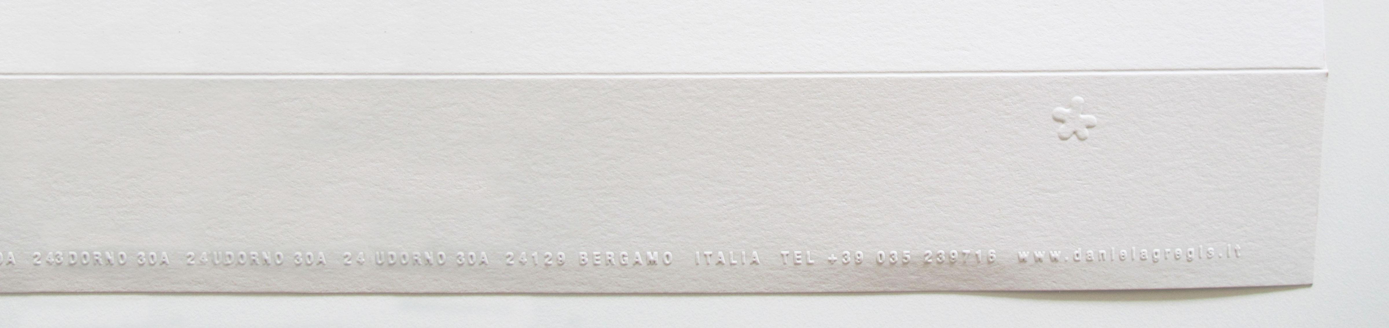 busta design con stampa a rilievo