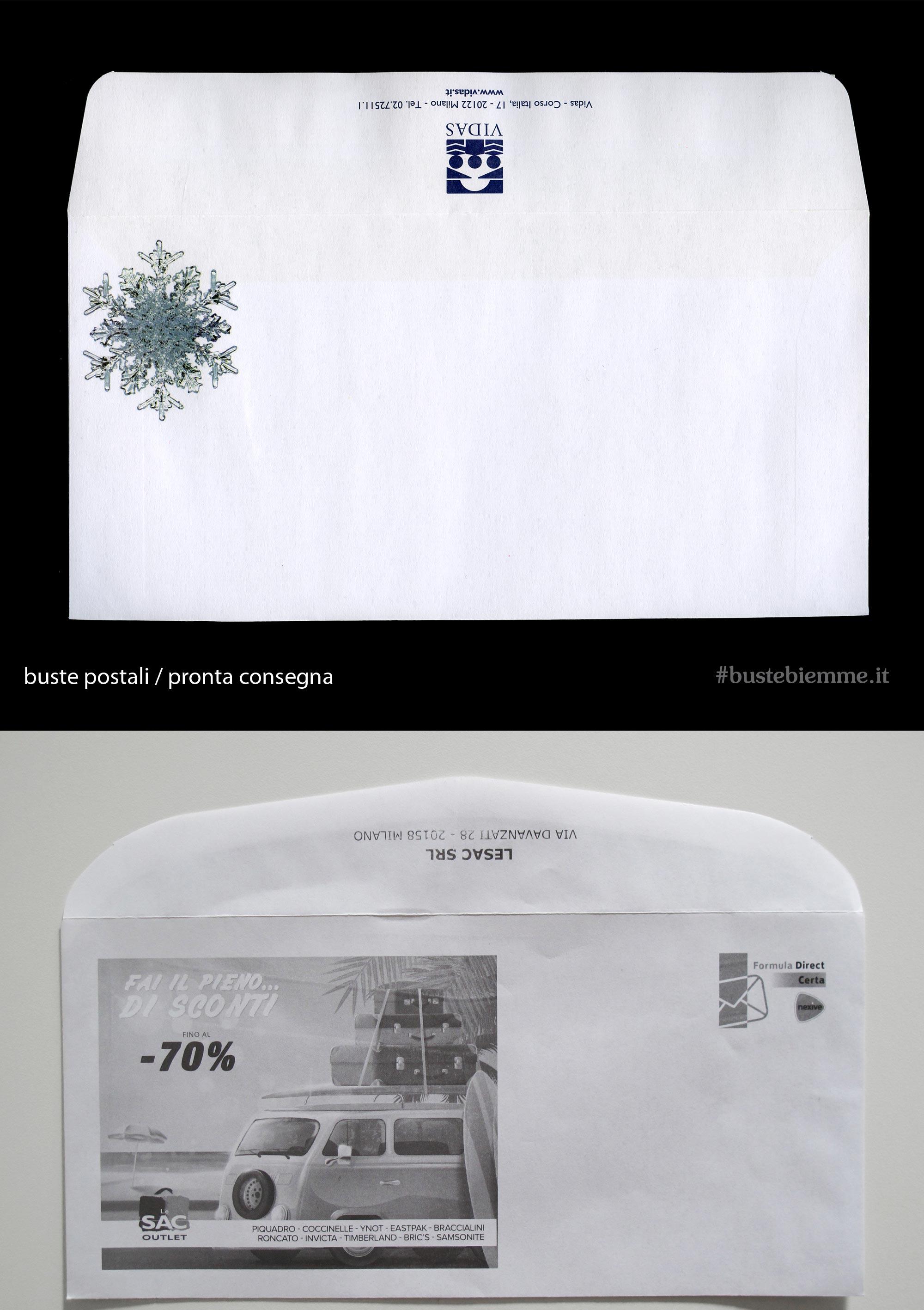 busta commerciale in pronta consegna personalizzata