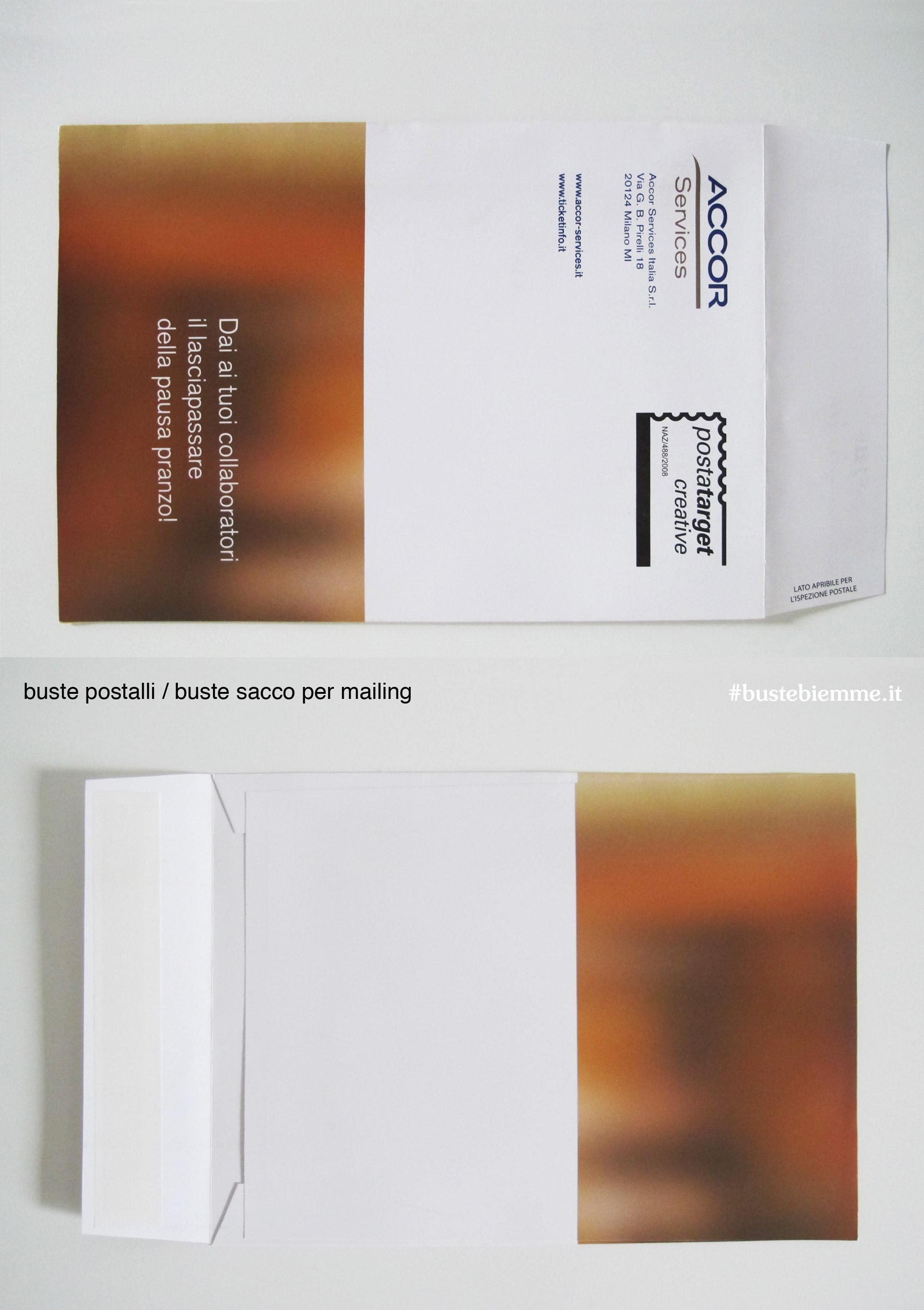 busta per mailing a sacco personalizzata
