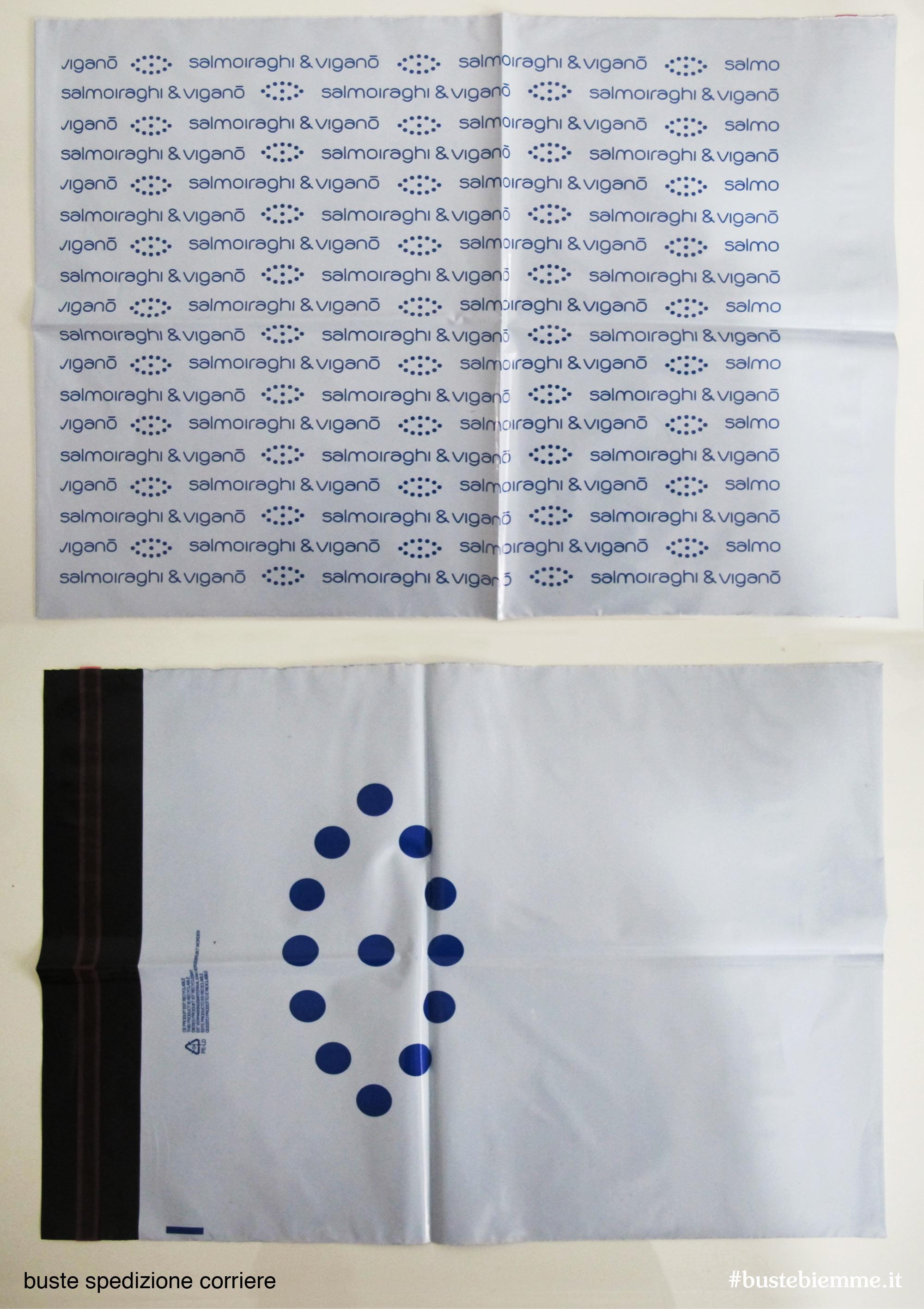 busta flyer personalizzata di spedizione per corrieri espressi in polietilene