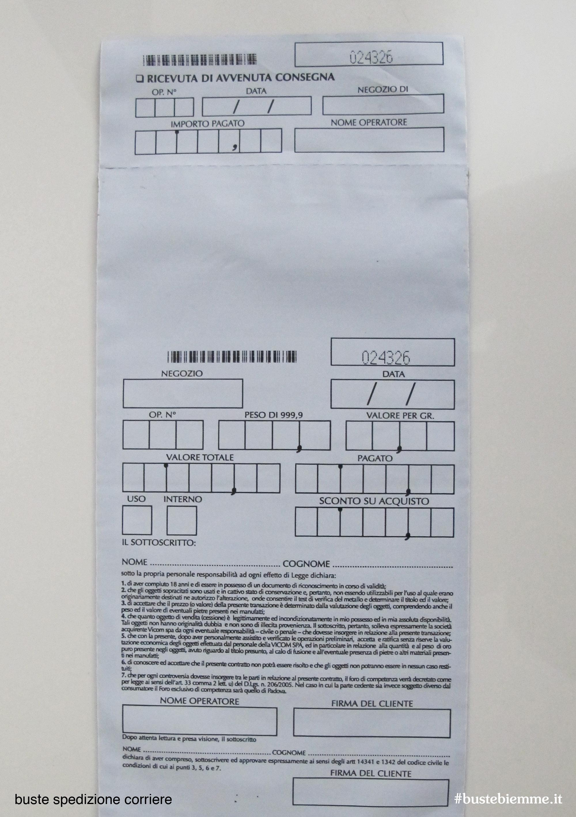 busta flyer di spedizione per corrieri espressi in polietilene