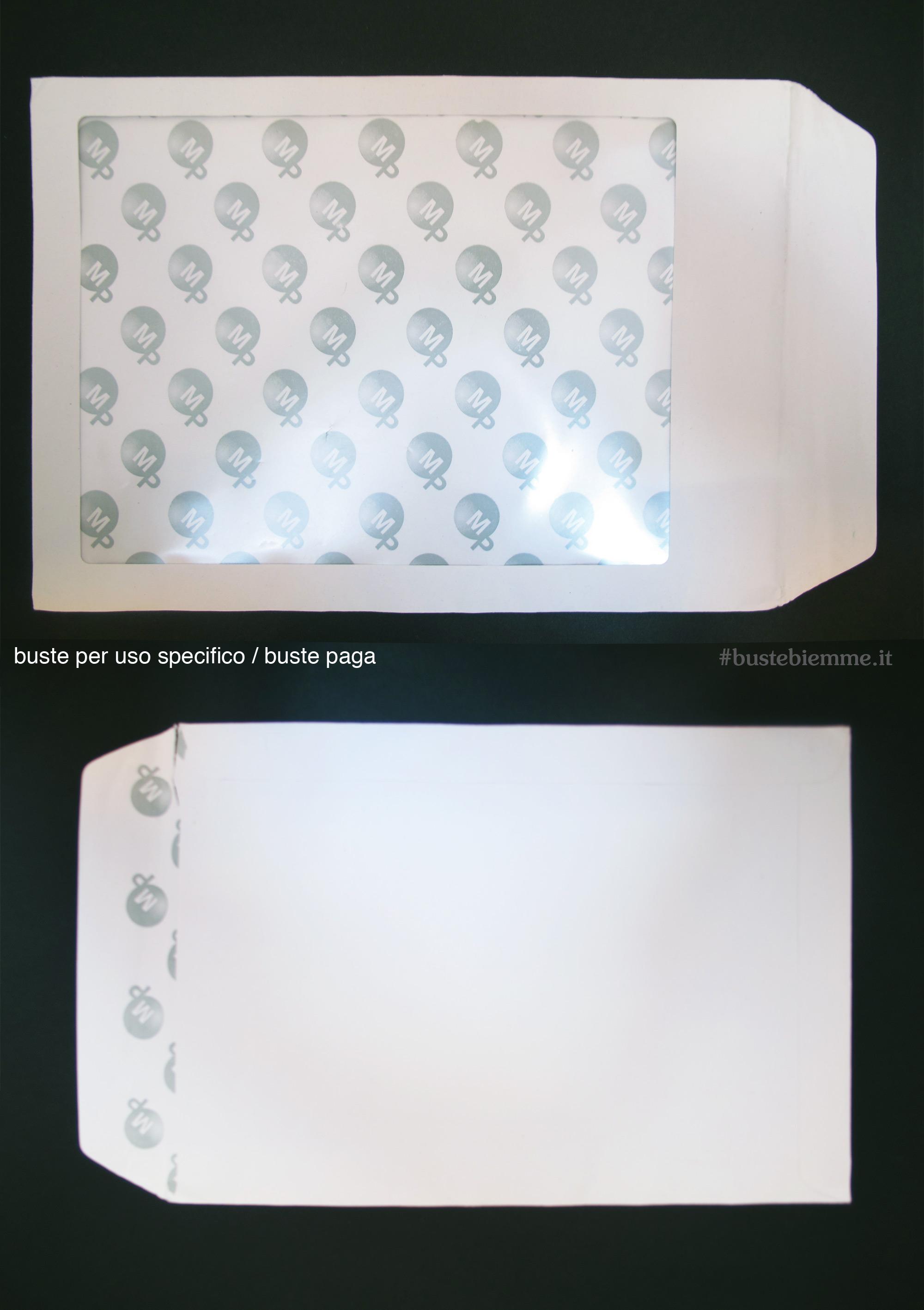 buste paga con finestra in dimensione speciale