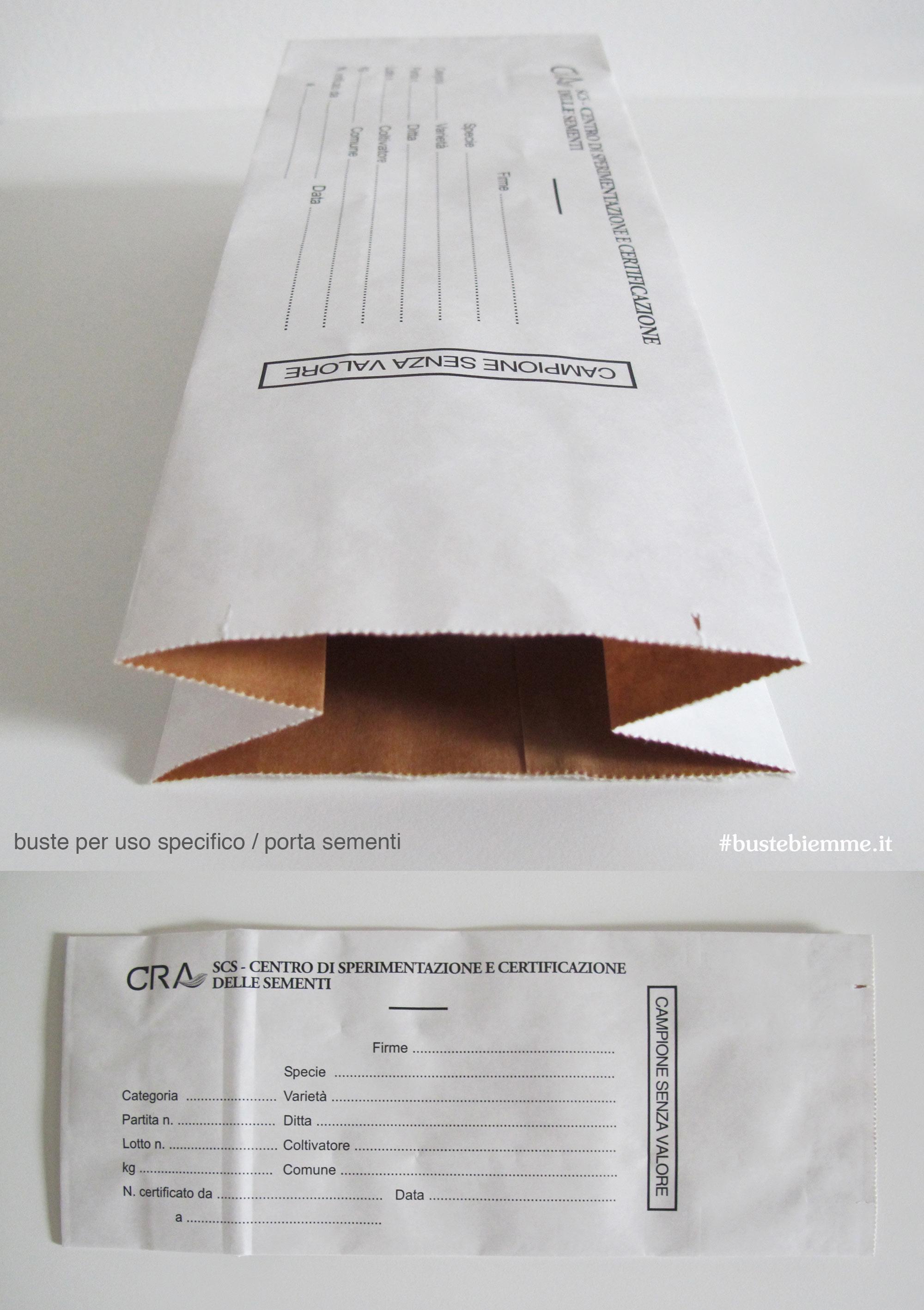 busta portasementi in carta politenata