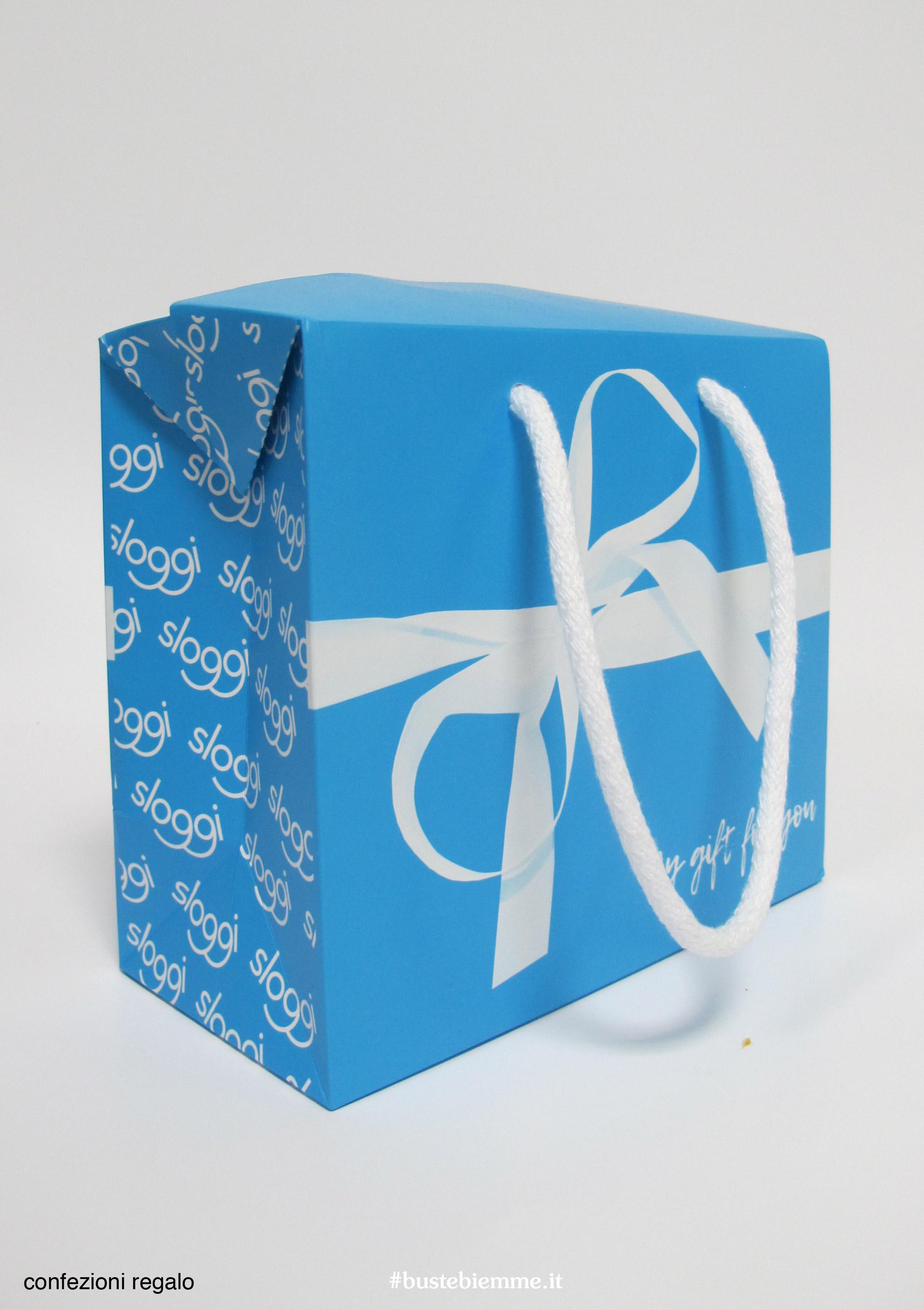 confezione regalo a forma di shopping bag personalizzato