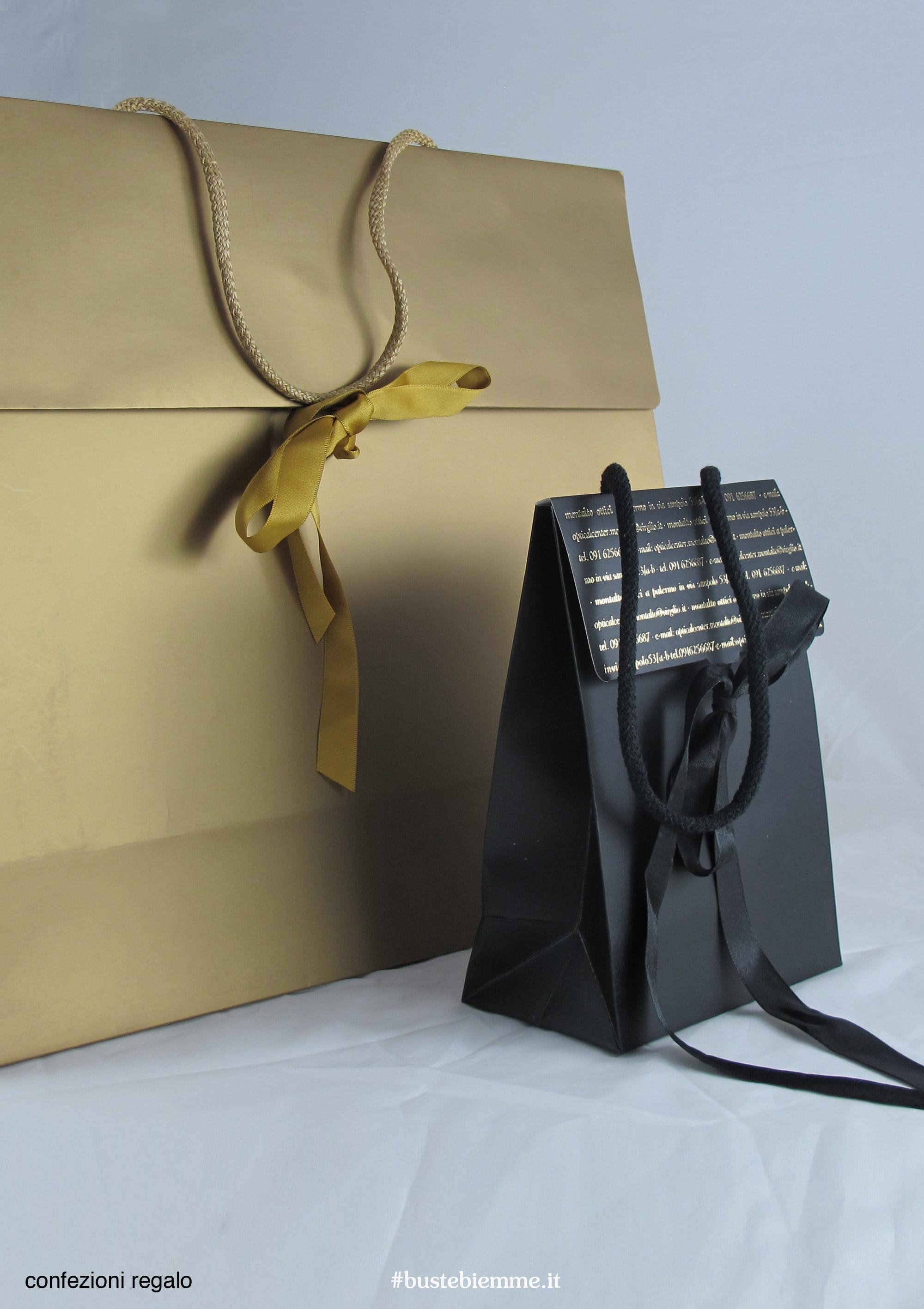 confezione regalo a forma di shopping bag da personalizzare con stampa a caldo